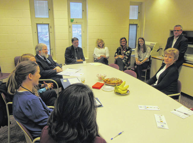 Meigs Local teachers and administrators recently had the opportunity to talk with State Supt. Paolo DeMaria about the Trauma Informed Care program.