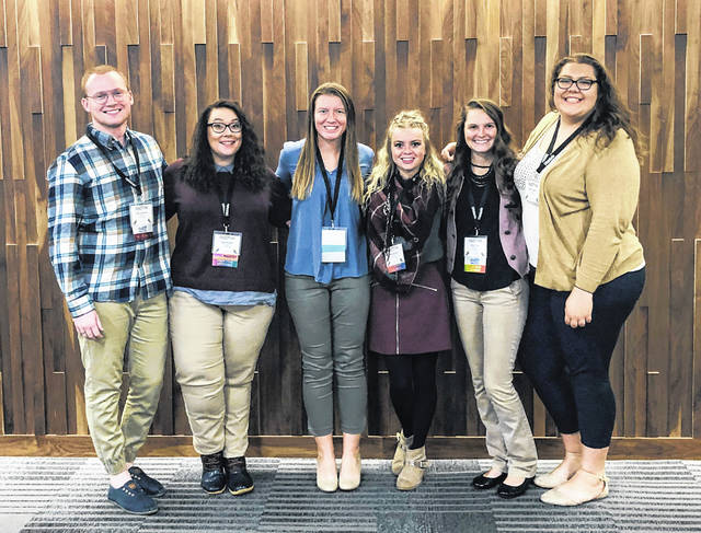 Members of Rio's Student Senate traveled to the Collegiate Leadership Conference of Ohio hosted by Columbus State Community College, which brings college students throughout the state together to enhance their leadership skills. Pictured left to right are Student Engagement Coordinator Seth Lawrence, Sally Boblitt, Student Senate President Kaylynn Bell, Amanda Shy, Abby Wood and Alyssa Sullivan.