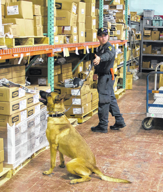 Buckeye Rural warehouse has become a training ground for Ohio State Highway Patrol canine units.