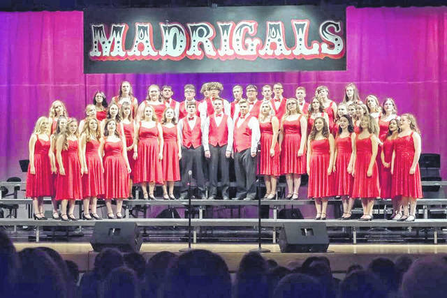 The Madrigals performing during their annual Variety Show.
