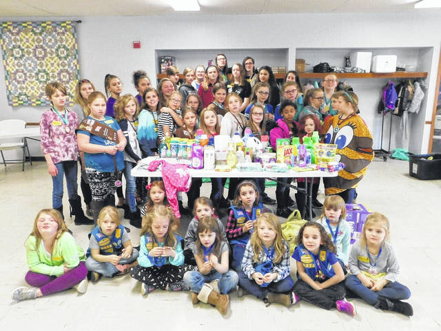 Area girls are wheeling and dealing again in one of the most iconic of fundraisers. Girl Scouts recently launched the 2019 Girl Scout Cookie season. Gallia Girl Scouts held a Cookie Rally in early January. Cookies will begin to arrive Feb. 20 and cookie booths will be held starting Feb. 23 at area businesses. According to scout councils, cookie season celebrates the largest financial investment in girls annually in the United States and is a powerful entrepreneurship incubator for the next generation of female leaders. To find Girl Scouts selling cookies near you, visit www.girlscoutcookies.org or use the official Girl Scout Cookie Finder app, free on iOS and Android devices. Pictured are members of seven of Gallia County's eight Girl Scout troops.
