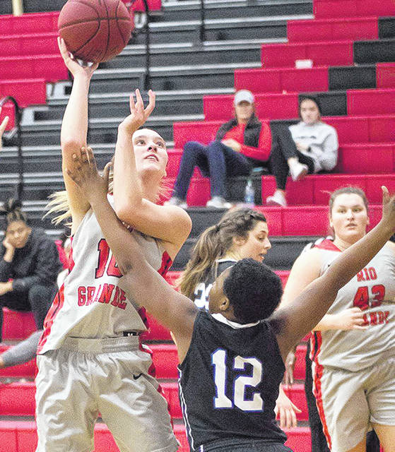 Rio Grande's Chelsy Slone poured in a career-high 26 points in the RedStorm's 78-77 Senior Night win over Ohio Valley University at the Newt Oliver Arena.