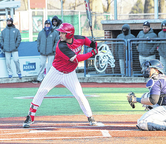 Rio Grande's David Rodriguez capped a three-run ninth inning rally with an RBI double to give the RedStorm a 5-4 win over Indiana University Southeast.