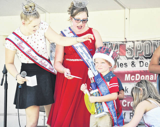 Cole Washington was crowned the 2018 Little Mister Firecracker last summer at the amphitheater during the Gallipolis River Recreation Festival.