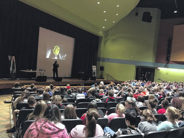 David Wells recently visited PPJ/SHS to speak with students about bullying and making the right choices in life.