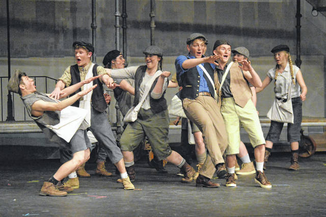 River Valley High School students perform in front of guests at dress rehearsal, Thursday evening, before their musical opening night, Friday.