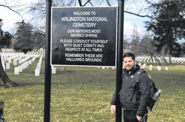Rio Sports and Exercise Studies Instructor Dr. Cory Schierberl is spending his spring break at Arlington National Cemetery in Arlington, Virginia, stopping at hundreds of thousands of graves to say thank you to the veterans laid to rest on the 624-acre grounds. He said taking the time to make this trip is something he has been hoping to do for several years.