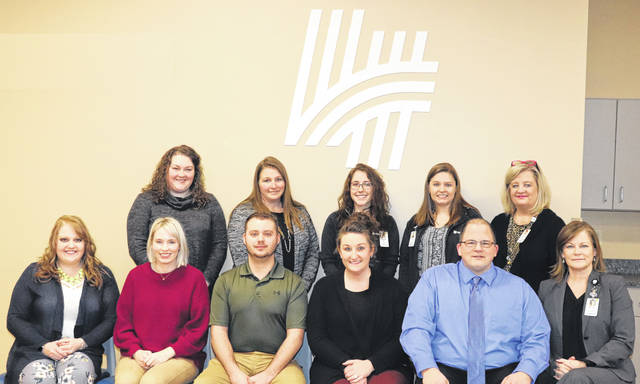 Southeast Ohio Regional Core Group consists of Gallia, Jackson, Vinton, and Meigs County Health Departments and Holzer Health System representatives. Shown pictured are members at the last meeting; front row, left to right: Brittany Muncy, Gallia County Health Department, McKenzie Conley, Gallia County Health Department, Tyler Schweickart, Gallia County Health Department, Cassie Carver, Vinton County Health Department, Ian Blache, University of Rio Grande/Meigs County Health Department, and MarJean Kennedy, Holzer Health System; back row, left to right: Katelyn Welch, Jackson County Health Department, Janelle McManis, Vinton County Health Department, Cassie Edwards, Holzer Health System, Ashton Cale, Holzer Health System, and Gwen Craft, Holzer Health System.
