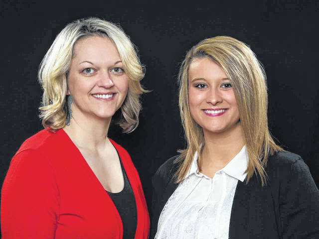 The staff at the Gallia County Chamber of Commerce includes Executive Director Elisha Orsbon, at left, and Associate Director Paige James.