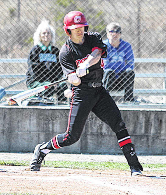 Rio Grande's Clayton Surrell hit a home run in Saturday's game one victory over Ohio Christian University.