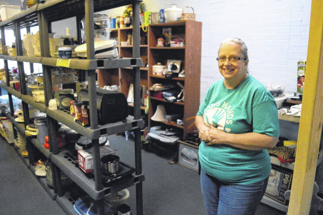 Lisa Carroll serves as the Executive Director of God's Hands at Work in Vinton.