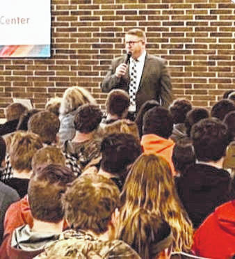 On March 27, 2019, Superintendent Nash of Buckeye Hills Career Center addressed next year's incoming sophomore class. He went over the expectations for students attending the career center including high attendance rates, drug-free policies, employability Skills, career Tech student organizations, job placement and industry credentials. Approximately 300 sophomores visited their new programs and met teachers, staff and current students. Buckeye Hills is planning a mandatory meeting for new students and parents in August.