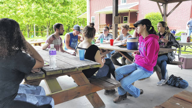River Valley High School students interact as part of the Neighbors Helping Neighbors initiative.