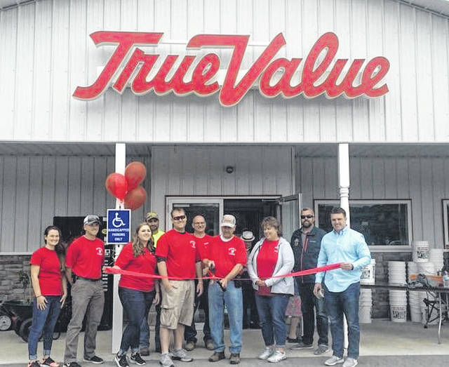 Dettwiller True Value Lumber in Pomeroy held it's Grand Re-Opening on Saturday at the new store located on East Main Street in Pomeroy. The new building was constructed behind the former building, allowing for double the square footage and a larger selections of items in many departments. The new location offers an expanded Stihl selection, lawn and garden, farm and ranch items, convenience automotive, paint and paint supplies, lighting, electrical, plumbing, pet supplies, hand and power tools, cabinet hardware and an indoor area for feed which had previously been located outside of the store. This is the third new building opened in the past eight years for Dettwiller Lumber, with additional locations in Albany and McArthur opening in recent years. Hours at Dettwiller Lumber in Pomeroy are 8 a.m. to 6 p.m., Monday-Friday; 8 a.m. to 3 p.m., Saturday; and 11 a.m. to 3 p.m., Sunday.