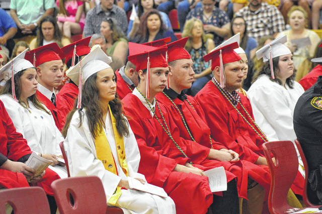 South Gallia's Class of 2019 takes some last moments to listen to teachers and administrators.