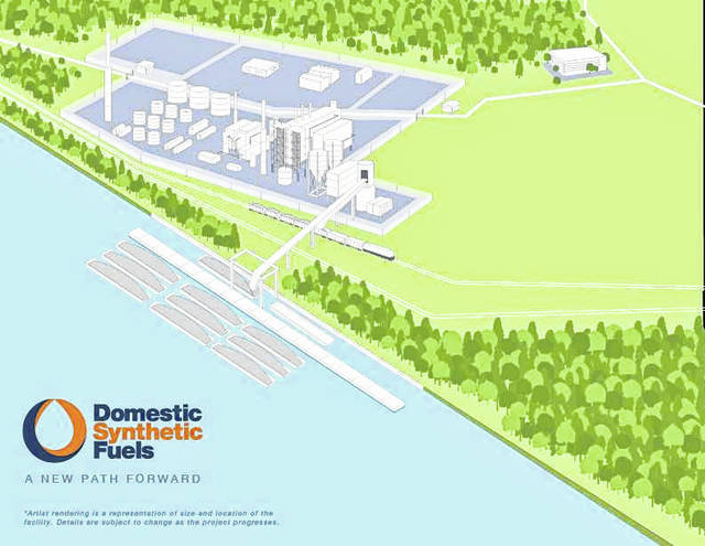 A rendering of a proposed coal to liquids facility in Mason County, W.Va. Reportedly, this type of facility is the first of its kind in the United States.