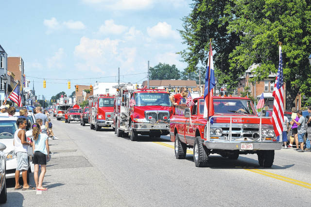 The Gallipolis River Recreation Festival Parade take place at noon, July 4 in downtown Gallipolis. Pictured is a previous parade.