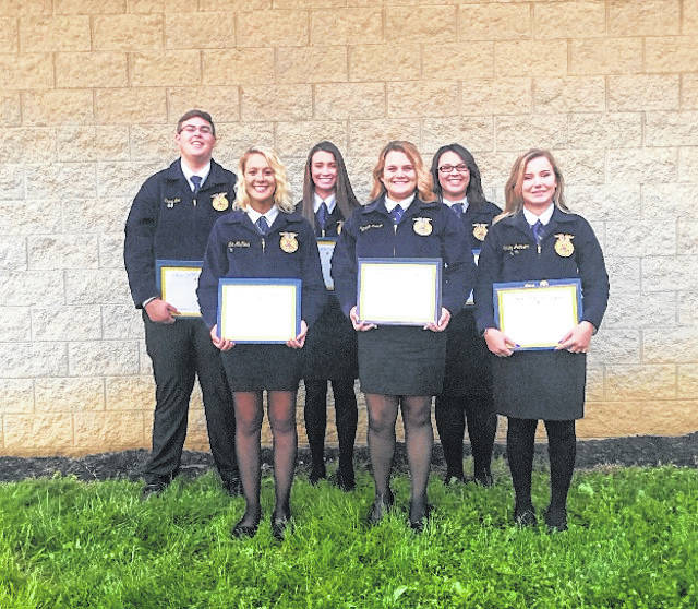 Six members of the Gallipolis FFA Chapter were recently awarded the State FFA Degree during the fifth session of the 91st Ohio FFA Convention held in Columbus. Carley Johnson, Cadha McKean, Ashleigh Miller, Grace Montgomery, Trace Neal, and Kenedie Roush are this year's State Degree recipients.