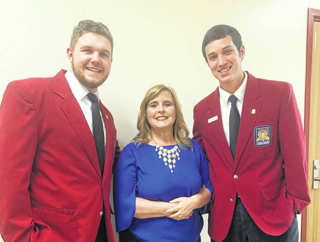 Garrett Shively, Sue Burleson, and Keyan Jenkins represent Buckeye Hills Career Center at the SkillsUSA National Conference in Louisville, Ky.