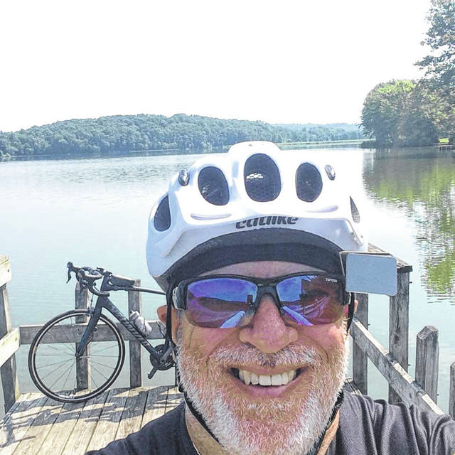 Gallia resident Charlie Barker joins the Across Ohio Bicycle Adventure.