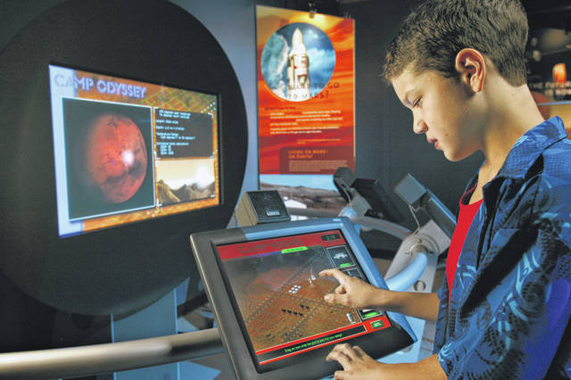 """""""SPACE: A Journey to Our Future"""" includes many interactive exhibits like Camp Viking, pictured."""