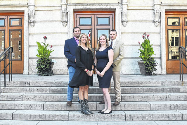 Pictured from left, from Gallia County, Scott Cummons, Courtney Cummons, Mikayla Wroten and Dakota Wroten participated in the 2019 Young Cattlemen's Conference.