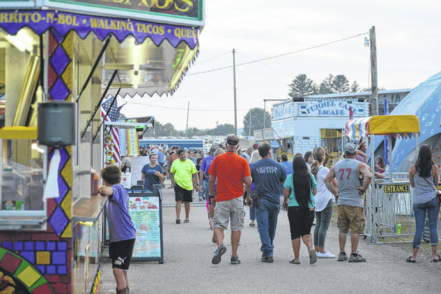 Gallia Junior Fair goers on the hunt for some food. The fair continues today and Saturday.