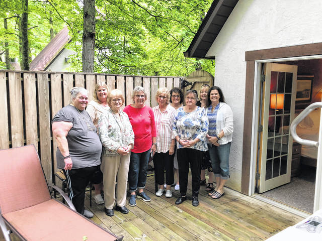Pictured from left to right:Bambi Roush, Donna DeWitt, Mary Withee, Debbie Rhodes, Doris Lanham, Cathy Greenleaf, Vickie Powell, Lois Carter, and Helenlu Morgan. Deborah Kerwood, not pictured.