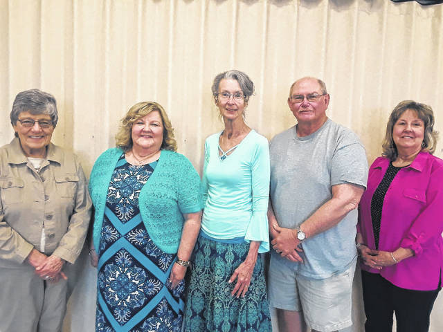 ORTA representative Karen Butt, President Gail Belville, Vice President Karen Polycn, Treasurer Jack James and Secretary Chris Williams.