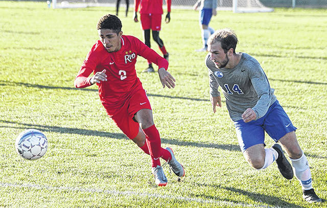 Rio Grande senior James Williamson and the rest of the RedStorm are the preseason favorite in the River States Conference men's soccer coaches' poll.