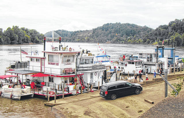 Sternwheelers and smaller boats lined the Pomeroy riverfront as part of the 2018 Pomeroy Sternwheel Regatta.