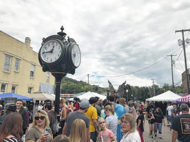 Crowds pack Gunn Park in downtown Point Pleasant during a previous Mothman Festival.