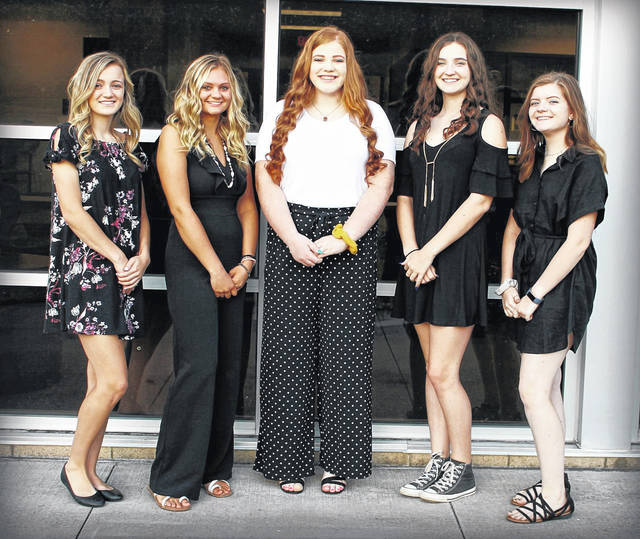 River Valley High School is celebrating Homecoming this week with several events slated, including the crowning of the 2019 Homecoming Queen on Friday prior to the varsity football game and a Homecoming Dance this Saturday. Five seniors are vying for the title of RVHS Homecoming Queen and are, pictured from left, Kaylee Gillman, Breanna Dodrill, Hannah Johnson, Ashley Hatfield and Shayla Sanger. The queen will be crowned during pregame festivities on Friday when the Raiders take on the Meigs Marauders.