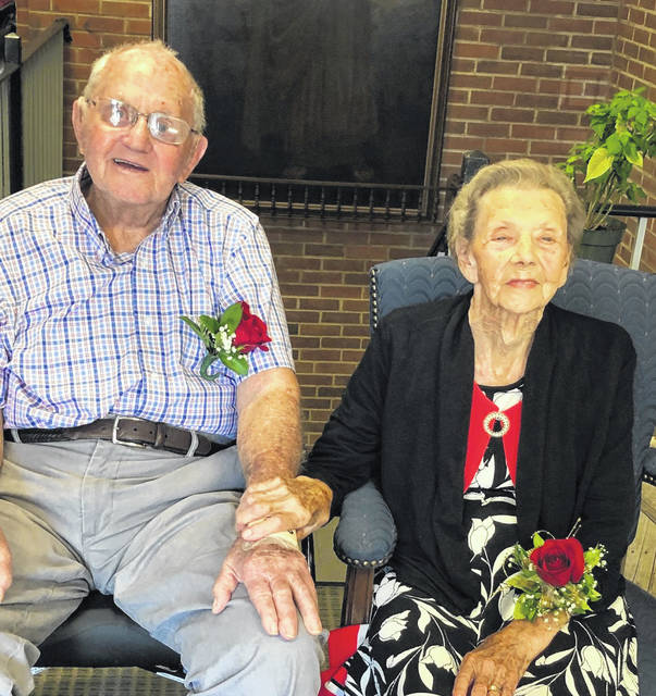 Don and Grace Shamblin, of Alexandria, Va., recently celebrated their 75th wedding anniversary. They were married on August 20, 1944 in Cheshire, when Grace was 18 and Don was 19. They attended Cheshire High School and were married right after Grace's graduation in 1944. Don worked as a crewman on dredging boats on the Ohio River. Later, he was a crane operator on the construction of the Kyger Creek Power Plant. He worked as a heavy equipment operator in Cincinnati before moving his family to Alexandria in 1959. Don worked in the booming construction industry in the Washington, D.C. area and Grace later worked at a bank in Old Town Alexandria. They moved into Sunrise Assisted Living Facility in Alexandria two years ago. They are longtime members of Virginia Hills Baptist Church in Alexandria. The couple have three children, nine granddaughters and 11 great grandchildren, many of whom live nearby in the Alexandria area.