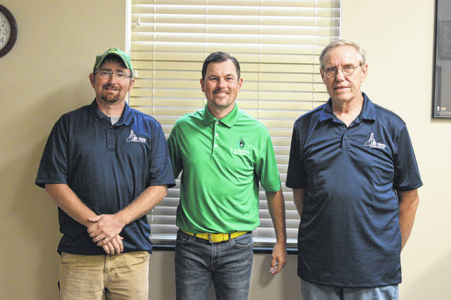 From left to right are JB-Nets WAN General Manager David Burdell, O.O McIntyre Park District Park Manager and Recreation Director Craig Sanders and JB-Nets Co-owner Steve Kline.