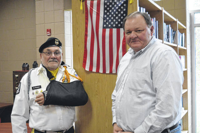 Event organizers from left to right, VFW 4464 Commander Bill Mangus and South Gallia History Teacher Jeff Fowler.