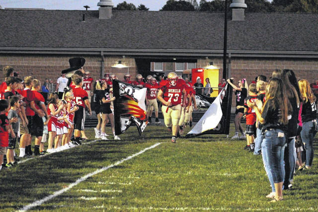 South Gallia High School has been celebrating homecoming all week and tonight, the Rebels, pictured, take on the Southern Tornadoes on the football field in Mercerville. Homecoming festivities start prior to the game at 6:30 p.m., with the crowning of the homecoming queen at 7 p.m. Vying for the title are Senior Candidates Alison Lockhart, Olivia Johnson, Sydney St. Clair and Olivia Harrison. The senior candidates will be joined by Junior Attendant Mikayla Waugh, Sophomore Attendant Ellen Weaver and Freshman Attendant Natalie Swain. More on the homecoming royalty in an upcoming edition.