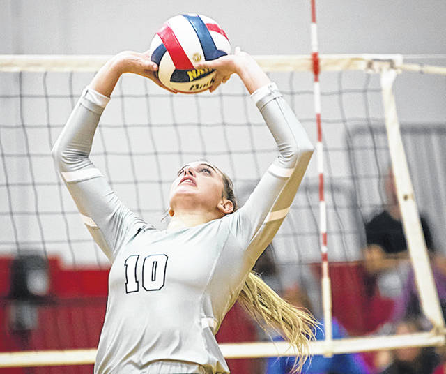 Rio Grande's Macy Roell had 32 assists and 18 digs to help the RedStorm post a 25-19, 25-14, 25-17 Senior Day win over Carlow University on Saturday afternoon at Newt Oliver Arena.