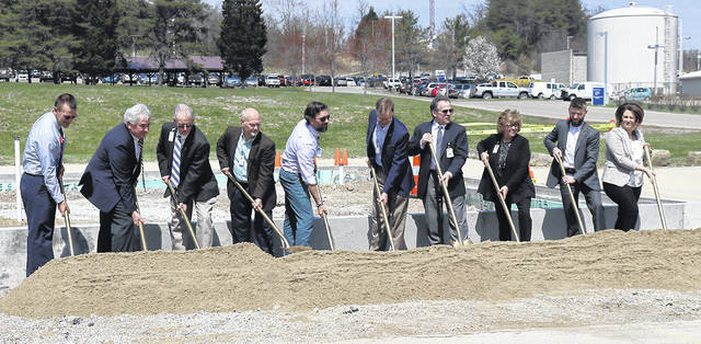 Pictured is the groundbreaking for the Holzer Wound Care Center® held back in April. The ribbon cutting and open house is set for this Monday at the facility on Jackson Pike in Gallipolis.