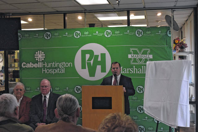 Pleasant Valley Hospital Chief Executive Officer Jeff Noblin spoke about the history of the health system.