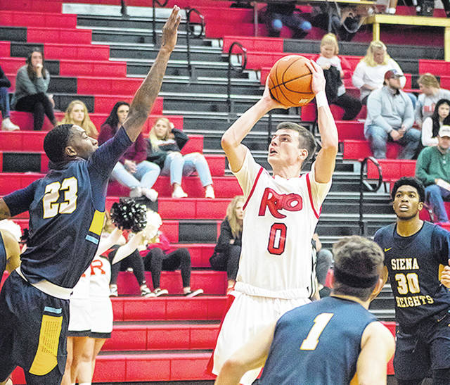 Rio Grande's Gunner Short scored a career-high 25 points to lead the RedStorm in a 77-63 win over Siena Heights (Mich.) University on Saturday at the Newt Oliver Arena.