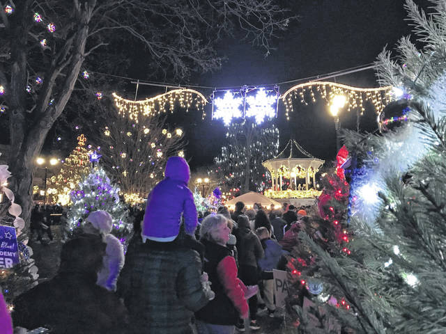 Visitors to Gallipolis City Park on Wednesday night take in this year's installment of Gallipolis in Lights.