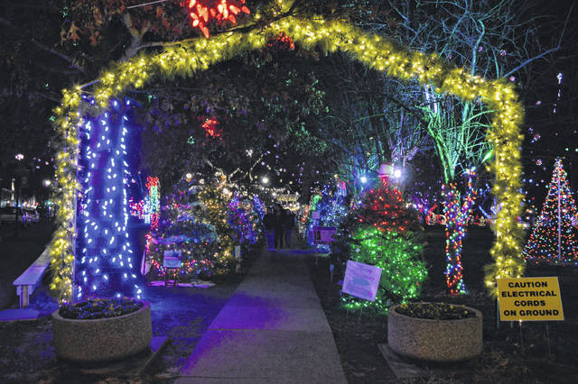 An archway greets visitors to Gallipolis City Park and Gallipolis in Lights.
