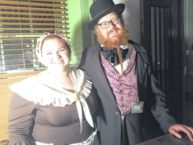 Guests were welcomed by reenactors Randall Fulks as Henry Cushing, and Samantha Taylor as Elizabeth Foster.