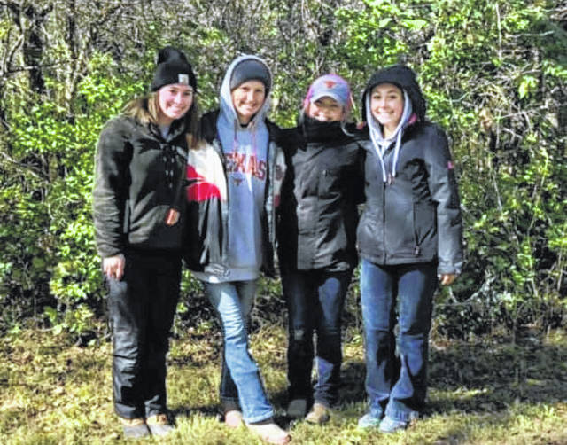 The Gallipolis FFA Urban Soils Team included Grace Montgomery, Alivia Lear, Makenna Caldwell, and Erin Pope.