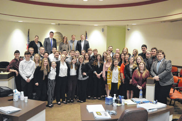 River Valley High School students joined Gallia criminal justice representatives in an annual Mock Trial practice.