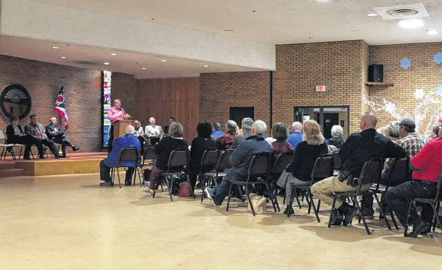 Area residents gathered to hear details surrounding a partnership between Gallia County government and Hopewell Health Centers to utilize formerly uninhabited Gallipolis Developmental Center cottages.