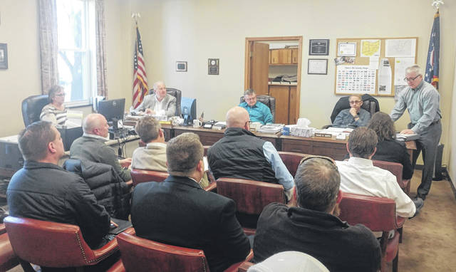 Gallia Commissioners and prospective companies seeking to take on the new Gallia Jail's construction management-at-risk responsibilities discuss project details.