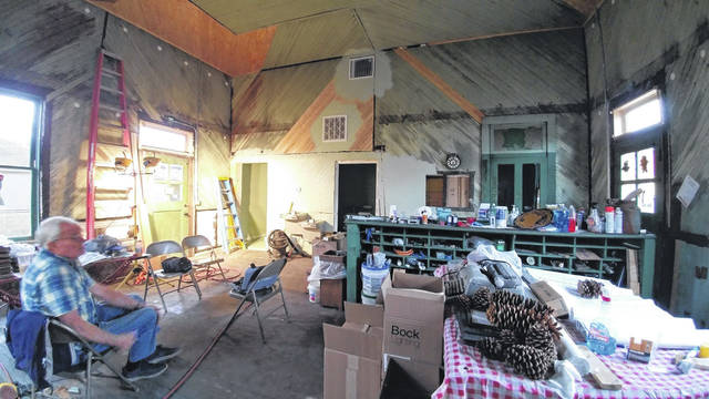 Gallipolis Railroad Freight Station Museum board members and contractors have been at work, pushing to complete the office portion of the museum.