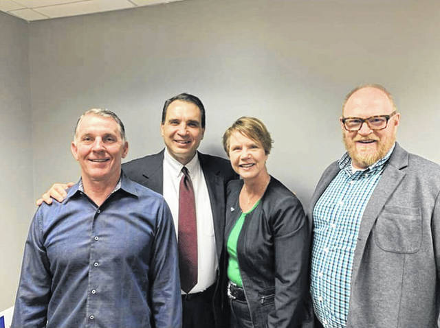 Ohio Supreme Court Justice Sharon Kennedy recently visited the new location of RXQ Compounding in Albany, touring the state-of-the-art facility. Pictured with Kennedy are CEO Edward Zatta RPh, President, COO and CFO Andy Corbin and attorney Christopher Tenoglia.